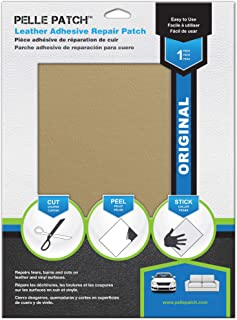 Pelle Patch - Leather & Vinyl Adhesive Repair Patch - 25 Colors Available - Original 8x11 - Light Yellow