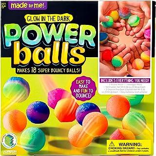 Made By Me Glow The Dark Powerballs by Horizon Group USA, DIY STEM Kit. Make 18 Bouncy..