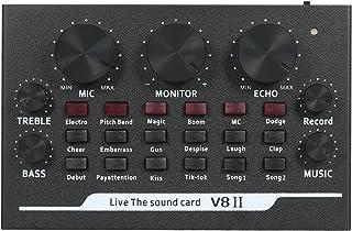 بطاقة صوت، V8II بطاقة صوت حية بي تي مع تأثيرات صوتية تسجيل شبكة تغني على هواتف الكمبيوتر المحمول