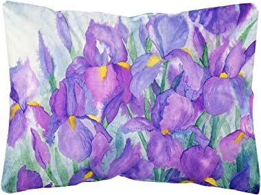 Caroline's Treasures IBD0256PW1216 Purple Iris Fabric Decorative Pillow, 12H x16W, Multicolor