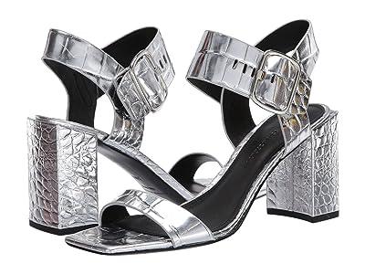 Sigerson Morrison Carmel (Silver Croc Print Leather) Women