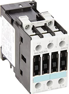 Siemens 3RT10 25-1BB40 Motor Contactor, 3 Poles, Screw Terminals, S0 Frame Size, 24V DC Coil Voltage