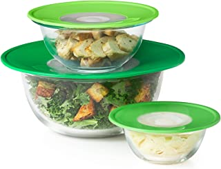 OXO Good Grips 3 Piece Reusable Silicone Lid and Splatter Guard Set