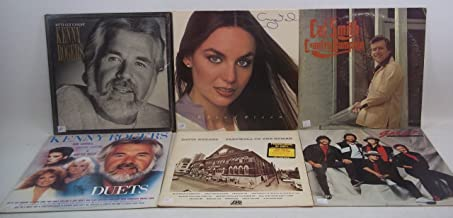Classic Country Lot of 6 Vinyl Record Albums David Rogers, Sawyer Brown, Kenny Rogers w/Kim Carnes, Sheena Easton, Dottie West, Cal Smith, Crystal Gayle