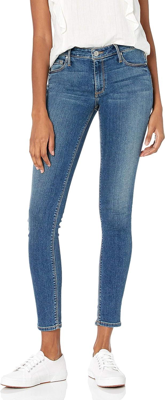 Women/'s Black Orchid Mid Rise Super Skinny Leopard Jude Jeans 26 Black