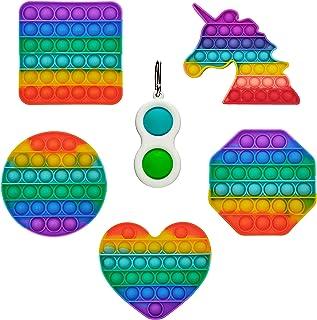 GreenBee Push Pop Bubble Fidget Toy Outil pour soulager Le Stress et l'anxiété pour Enfants et Adultes (Lot de 5)