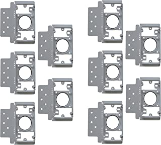 ZVac 10 Pack Central Vacuum Wall Plate Inlet Install Mounting Bracket - Central Vacuum Wall Plate Backing Compatible Replacement for All Central Vacuum Systems