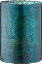 Homemania Wax Candle Holder, Decorative Blue, Glass, 12 x 12 x 17 cm