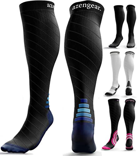 Compression Socks for Men & Women (20-30 mmHg) - Anti DVT Stockings - Swollen Legs - Varicose Veins - Edema - Running...