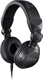 Technics EAH-DJ1200 - Auriculares Profesionales de DJ con Bobina de Voz CCAW de 40 mm, Carcasa giratoria de 270 ° y Cable Desmontable de Bloqueo; Entrada Alta Ligera y Plegable - EAH-DJ1200 (Negro)