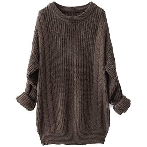 LinyXin Cashmere Women s Cashmere Winter Jumper Oversized Loose Casual Crew  Neck Batwing Sleeve Warm Pullover Knitted c9cbc98c72