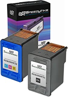 Speedy Inks Remanufactured Ink Cartridge Replacement for HP 21 and HP 22 (1 Black, 1 Color, 2-Pack)