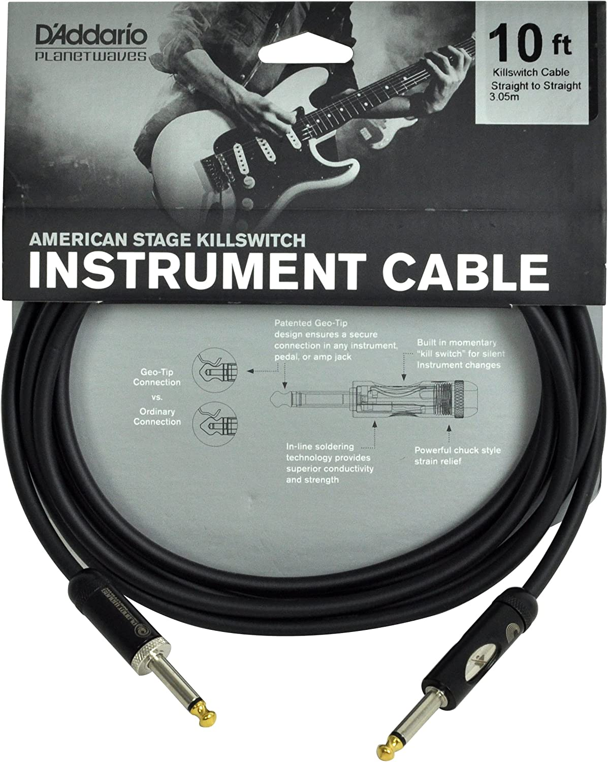 D'Addario Special Max 67% OFF price for a limited time Kill Switch Instrument 10 Cable feet
