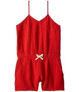 Red Short Romper in All Fired Up (Big Kids)
