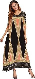 Floerns Women's Short Sleeve Oversized Maxi Kaftan Dress