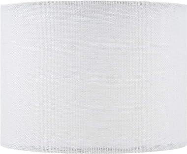 Upgradelights 5 Inch Retro Barrel Drum Clip on Chandelier Lampshade (White) 5.5x5.5x4