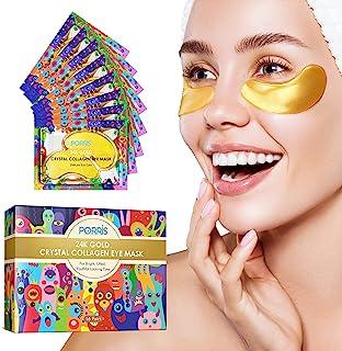 24K Gold Eye Treatment Mask Under Eye Patches,Eye Gel Anti-aging Anti-wrinkle Moisturizing Mask for Puffy Eyes,Dark Circles,Under Eye Wrinkles,Hydrating,Remove Eye Bags-16 Pairs