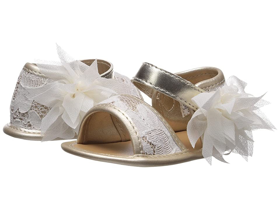 Baby Deer Soft Sole Lace Sandal (Infant) (Champagne) Girls Shoes