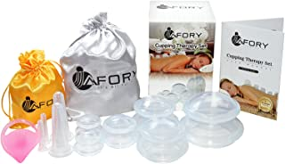 Premium Cupping Massage Therapy Set: Say Goodbye to Cellulite, Stretch Marks & Wrinkles! Therapeutic Silicone Cups with a Bonus Facial Kit & Massage Brush, Manual and 2 Satin Bags. Ideal for Traveling