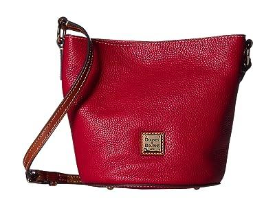 Dooney & Bourke Pebble Small Thea Crossbody (Red/Tan Trim) Cross Body Handbags