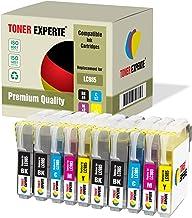 10 XL TONER EXPERTE® Compatibles LC985 Cartuchos de Tinta para Brother DCP-J125, DCP-J140W, DCP-J315W, DCP-J515W, MFC-J220, MFC-J265W, MFC-J410, MFC-J415W (4 Negro, 2 Cian, 2 Magenta, 2 Negro)