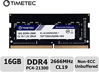 Timetec Hynix IC 16GB DDR4 2666MHz PC4-21300 Unbuffered Non-ECC 1.2V CL19 2Rx8 Dual Rank 260 Pin SODIMM Laptop Memory RAM Module Upgrade Special Promotion Item (Not for iMac 2019)
