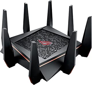 ASUS Gaming Router Tri-band WiFi (Up to 5334 Mbps) for VR & 4K streaming, 1.8GHz Quad-Core processor, Gaming Port, Whole Home Mesh System, AiProtection network with 8 x Gigabit LAN ports(GT-AC5300)