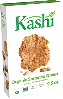 Kashi Organic Sprouted Grains Breakfast Cereal - Vegan| Non-GMO Project Verified, 9.5 Oz Box
