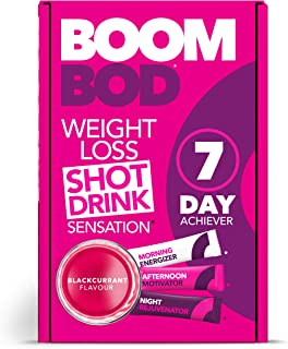 Boombod Weight Loss Shot Drink, Glucomannan, High Potency, Diet and Exercise Enhancement, Promote Fat Loss, Keto and Vegetarian Friendly, Sugar and Aspartame Free, Gluten-Free - Blackcurrant Flavor
