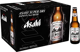 Asahi Super Dry Beer Bottles, 330 ml (Pack of 24)