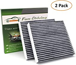 2 Pack Cabin Air Filter for Dodge Dart (2013-2016)/ Pontiac Vibe (2003-2008)/Toyota Tacoma (2005-2017) with Activated Carbon,Replacement for CF10374/87139-YZZ09