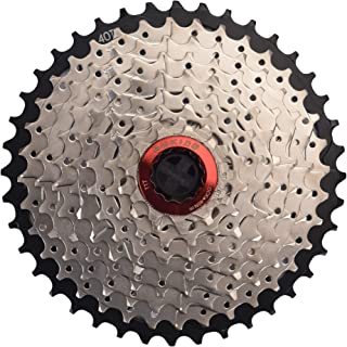 CYSKY 9 Speed Cassette 9Speed 11-40 Cassette Fit for Mountain Bike, Road Bicycle, MTB, BMX, Sram Sunrace Shimano ultegra xt (Light Weight)