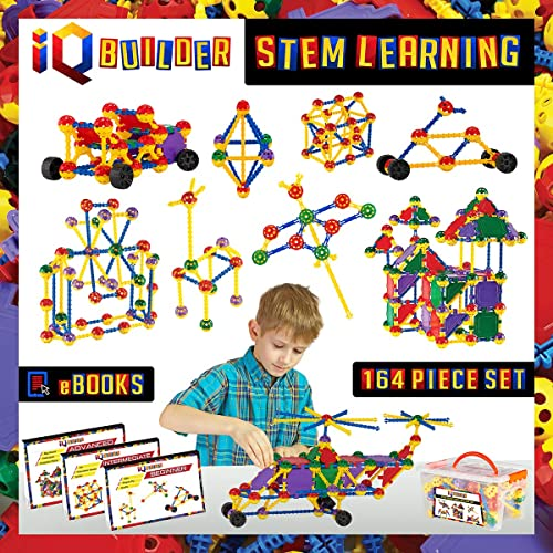 IQ BUILDER | STEM Learning Toys | Creative Construction Engineering | Fun Educational Building Toy Set for Boys and G...