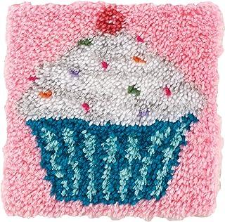 "Wonderart Cupcake Latch Hook Kit, 12"" X 12"""