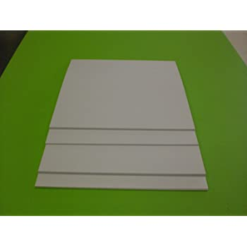 Amazon Com White Styrene Polystyrene Plastic Sheet 125 X12 X12 1 8 Vacuum Forming Print Office Products