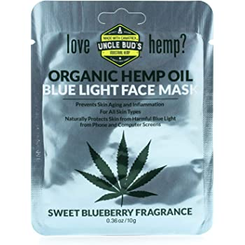 Uncle Bud's Blue Light Face Mask with pure Organic Hemp Seed Oil – 6 PACK BUNDLE