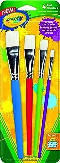 قلم موهای رنگ بزرگ Crayola (4Count Flat)