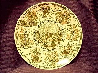 Fine American Ironstone American Revolution Bicentennial 1776-1976 Commemorative Plate #1