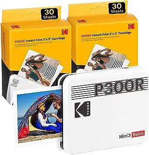 KODAK Mini 3 Retro Portable Photo Printer, Compatible with iOS, Android & Bluetooth Device, Real Photo: (3x3), 4Pass Techn...