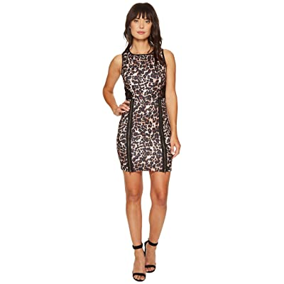 ROMEO & JULIET COUTURE Animal Print with Lace Back Dress (Black 2) Women