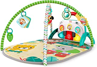 Brights Starts 12612 4-in-1 Groovin' Kicks Tropical Safari Play Mat with Piano and Drum, Multi-Colour