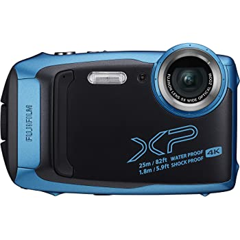 Fujifilm FinePix XP140 - Cámara Digital Compacta, Color Azul Claro ...