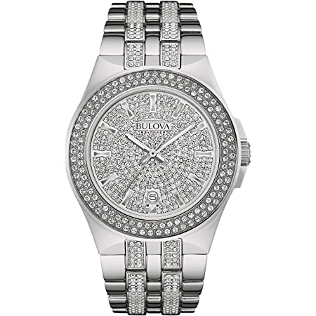 Bulova Men's 96B235 Swarovski Crystal Stainless Steel Watch