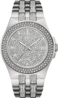 Men's 96B235 Swarovski Crystal Stainless Steel Watch