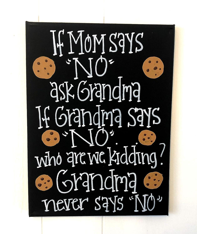 Funny Mom and Grandma Canvas Art
