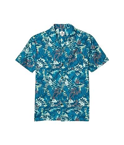 tentree Quartz Short Sleeve Button-Up (Star Gaze Blue/Wild All Over Print) Men