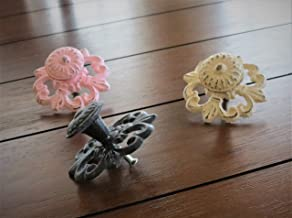 Farmhouse Style Cast Iron Knob | Choose from 40+ Colors | Large Cottage Chic Dresser Drawer Cabinet Door Pull | Sold per Unit