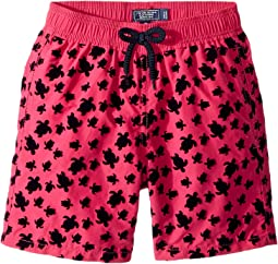 Micro Turtles Flocked Swim Trunk (Big Kids)