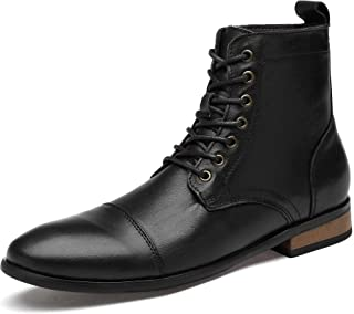 Men's Leather Classic Chukka Boots Lace up Shoes