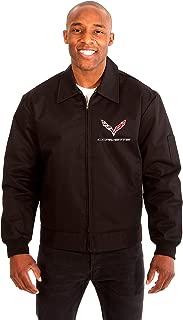 AFC Chevy Corvette Men's Mechanics Jacket Front & Back Emblems Black or Gray or Navy